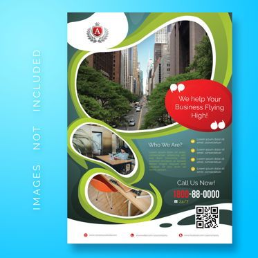 Abstract/Textures: Corporate Business Flyer Template #08471