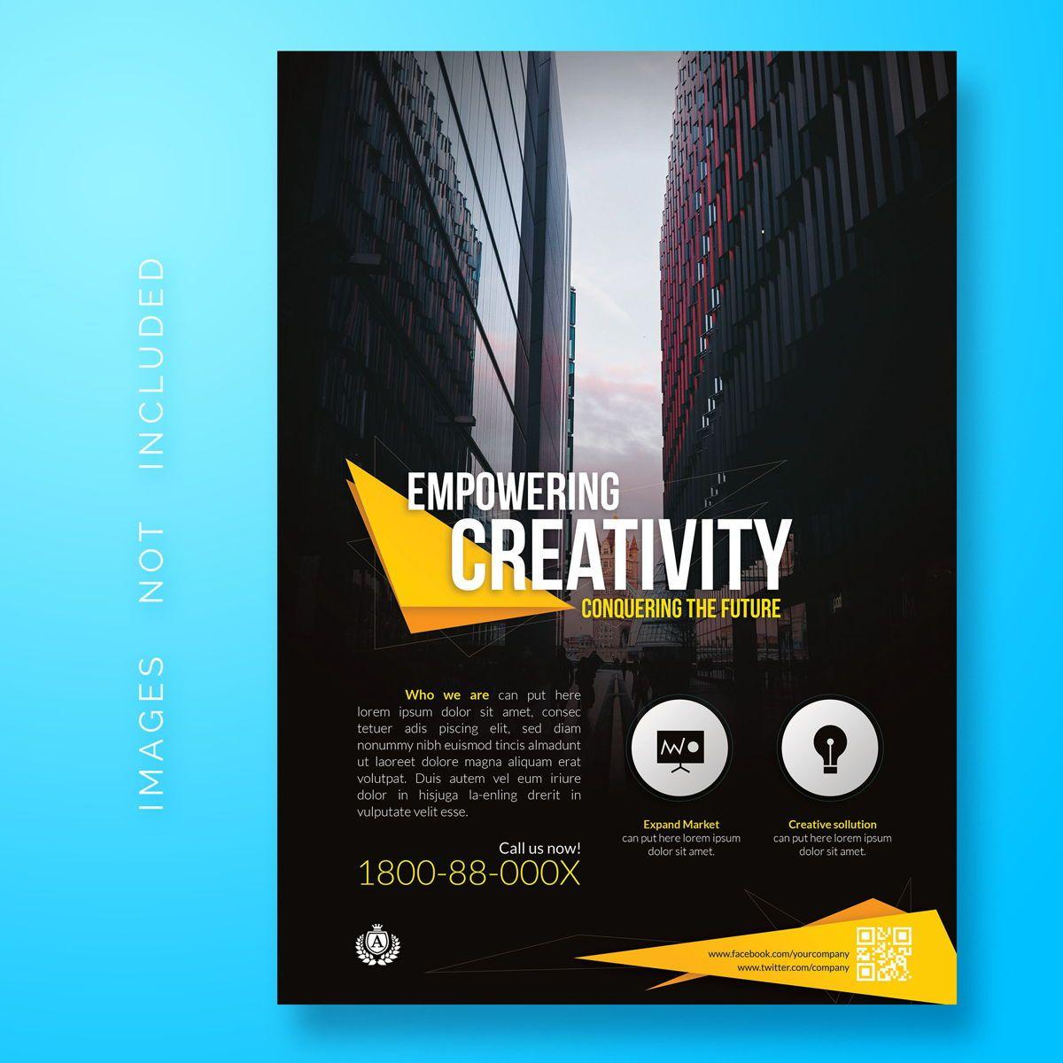 Corporate Business Flyer Template, 08472, Abstrait / Textures — PoweredTemplate.com