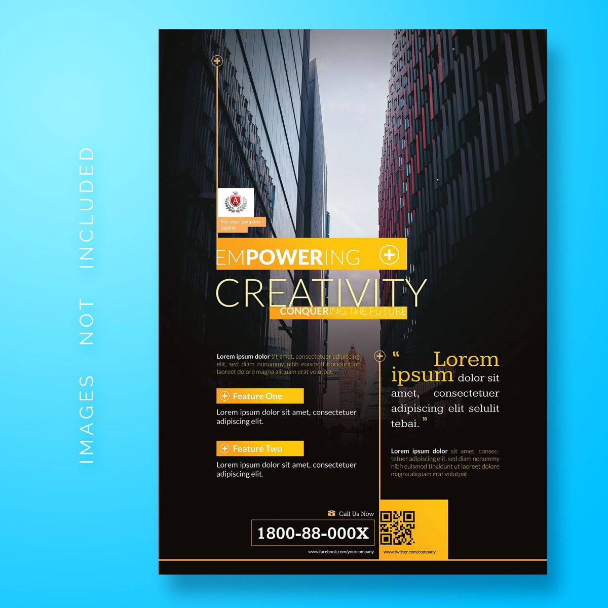 Corporate Business Flyer Template, 08473, Abstrait / Textures — PoweredTemplate.com