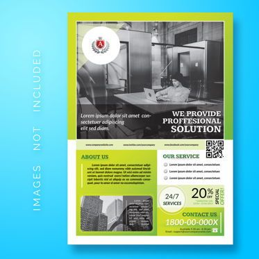 3D: Corporate Business Flyer Template #08478