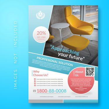 3D: Business Corporate Flyer Template #08482