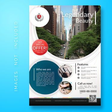 3D: Business Corporate Flyer template #08483