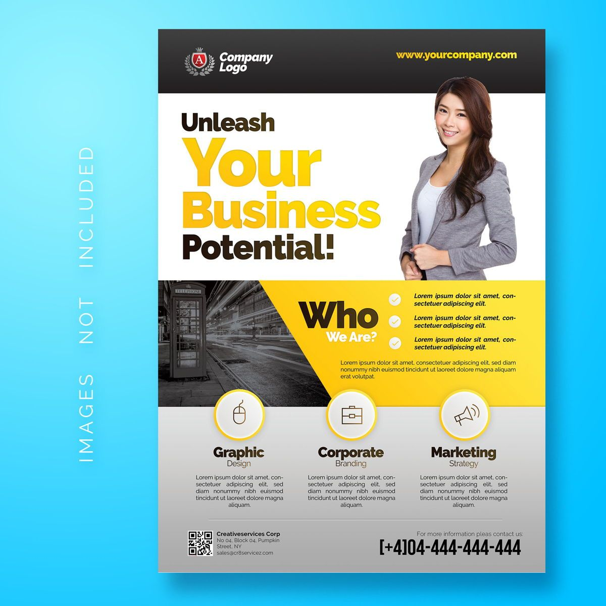 Multipurpose Corporate Flyer Template, 08486, Business — PoweredTemplate.com