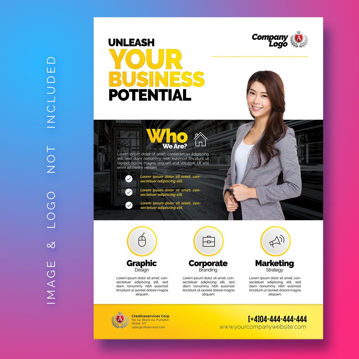 Multipurpose Corporate Flyer Template, 08487, Business — PoweredTemplate.com