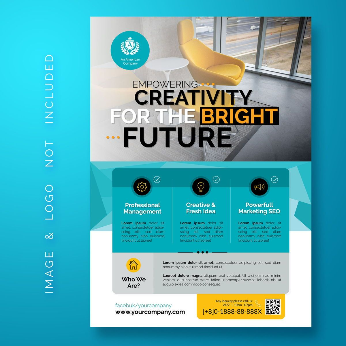 Multipurpose Corporate Flyer Template, 08488, Abstract/Textuur — PoweredTemplate.com
