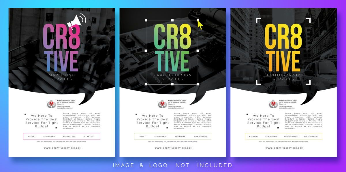 Multipurpose Business Flyer Template, 08489, America — PoweredTemplate.com