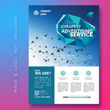 Abstract/Textures: Multipurpose Business Flyer Template #08490