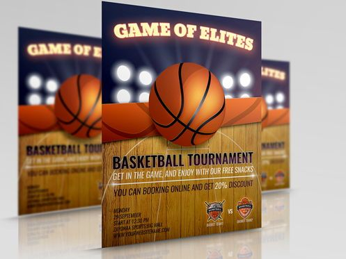 Sports: Basketball Flyer Template #08491