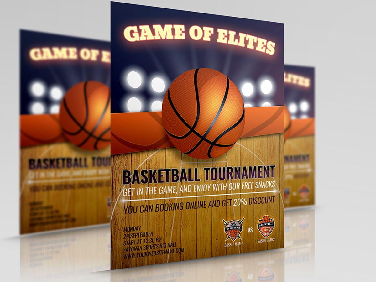 Basketball Flyer Template, 08491, Sport — PoweredTemplate.com