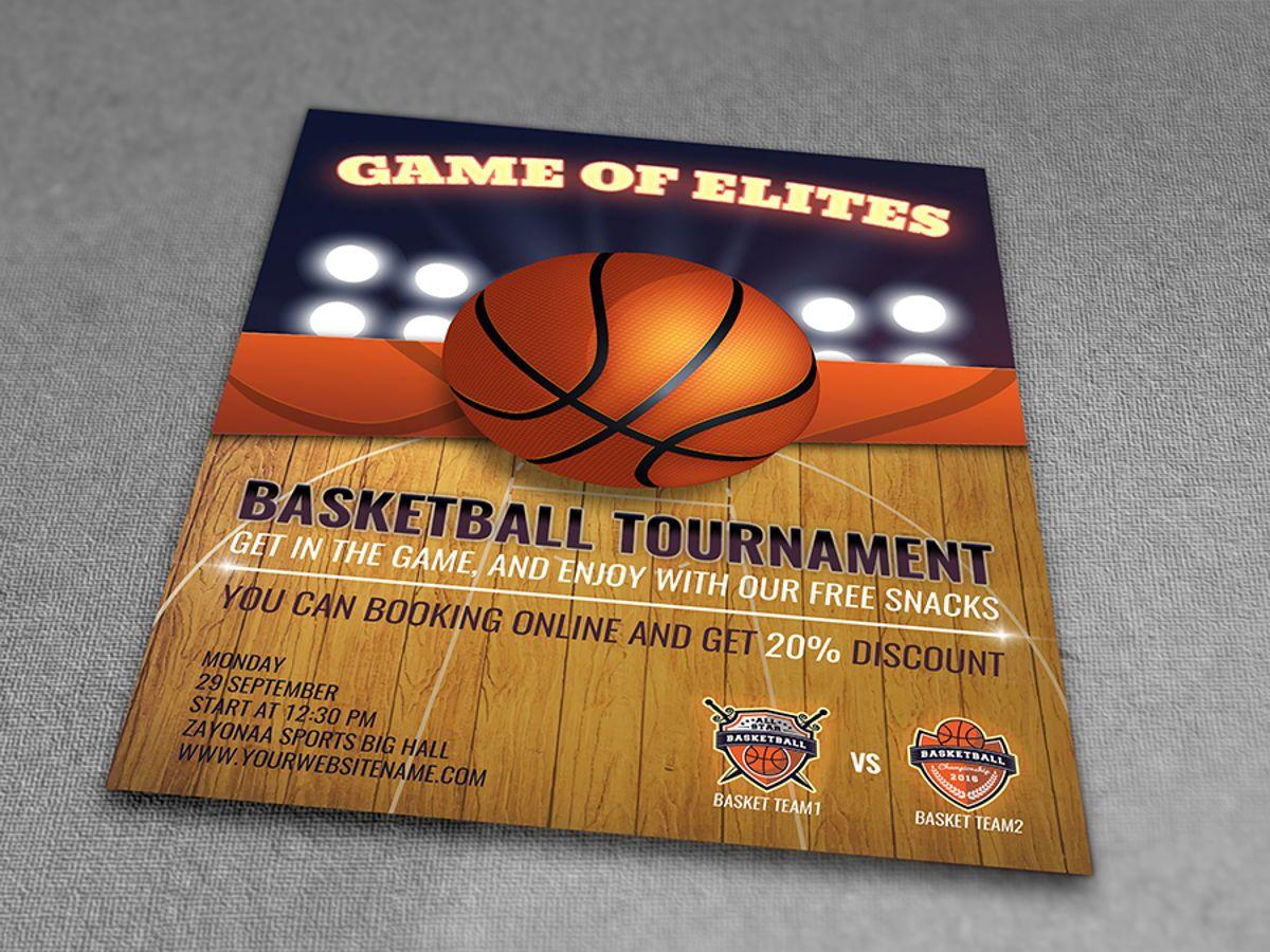 Basketball Flyer Template, Diapositive 3, 08491, Sport — PoweredTemplate.com