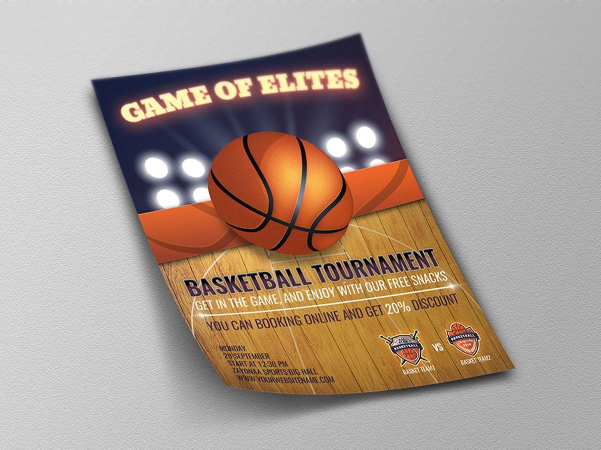 Basketball Flyer Template, Diapositive 4, 08491, Sport — PoweredTemplate.com