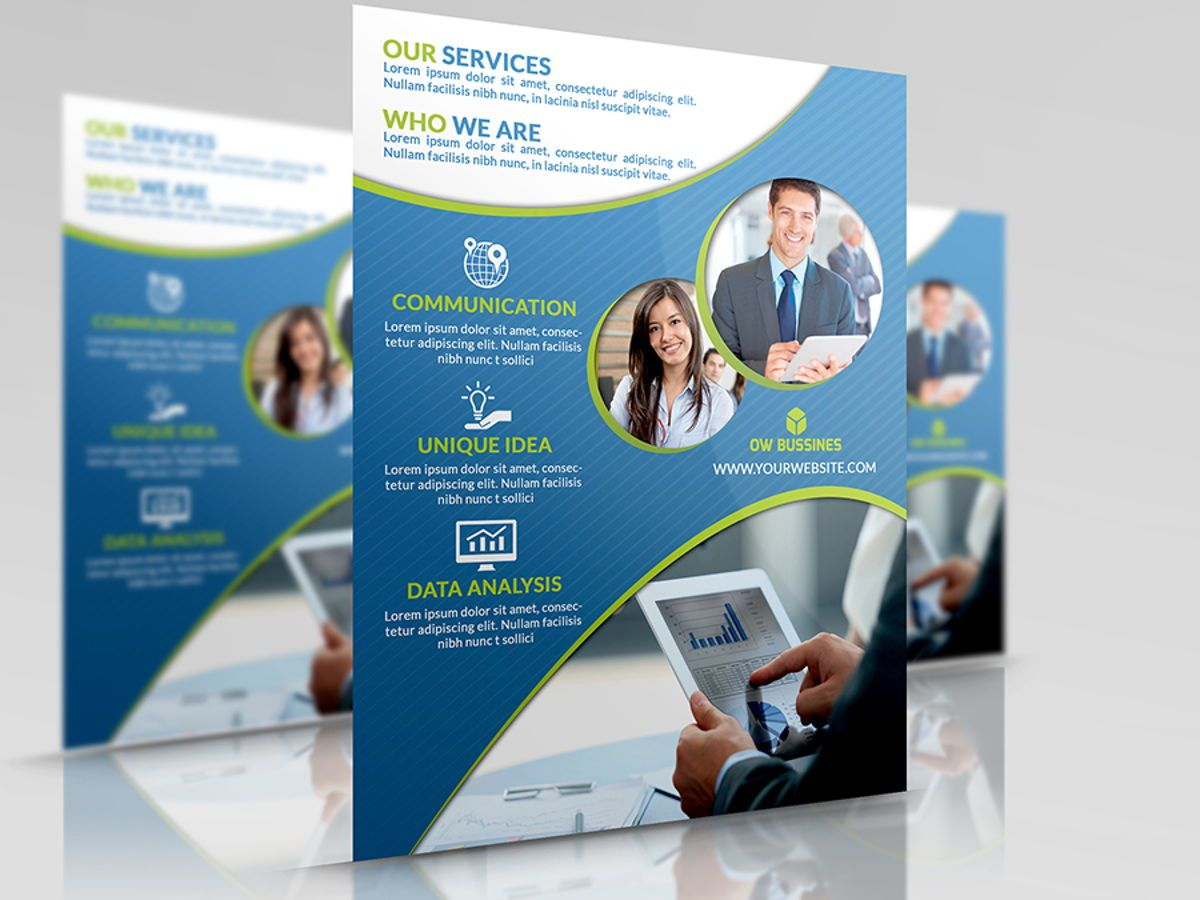 Corporate Flyer Template, 08492, Business — PoweredTemplate.com