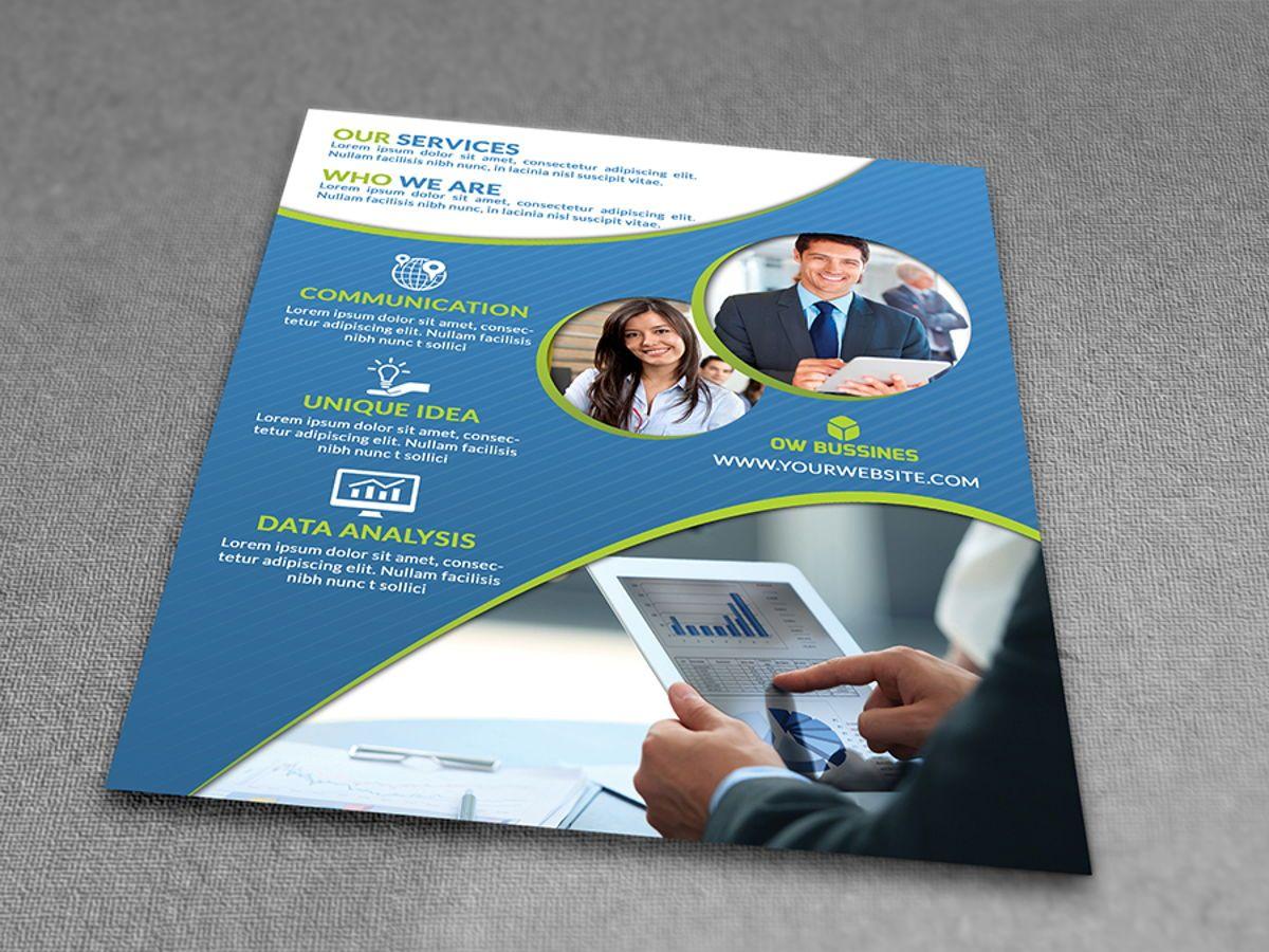 Corporate Flyer Template, Slide 3, 08492, Business — PoweredTemplate.com