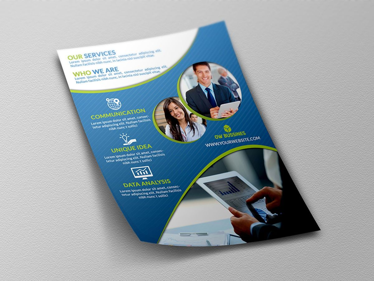Corporate Flyer Template, Slide 4, 08492, Business — PoweredTemplate.com