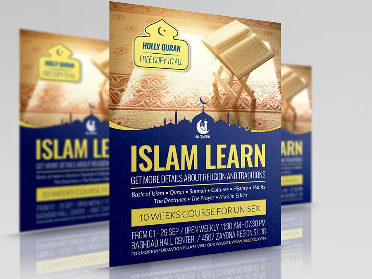 Islamic Flyer Template, 08495, Religious/Spiritual — PoweredTemplate.com