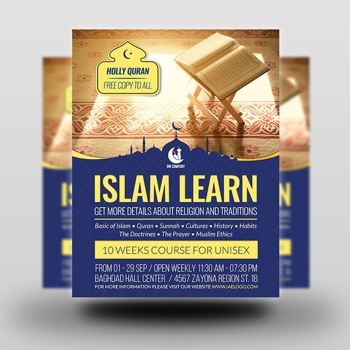 Islamic Flyer Template, Slide 2, 08495, Religious/Spiritual — PoweredTemplate.com