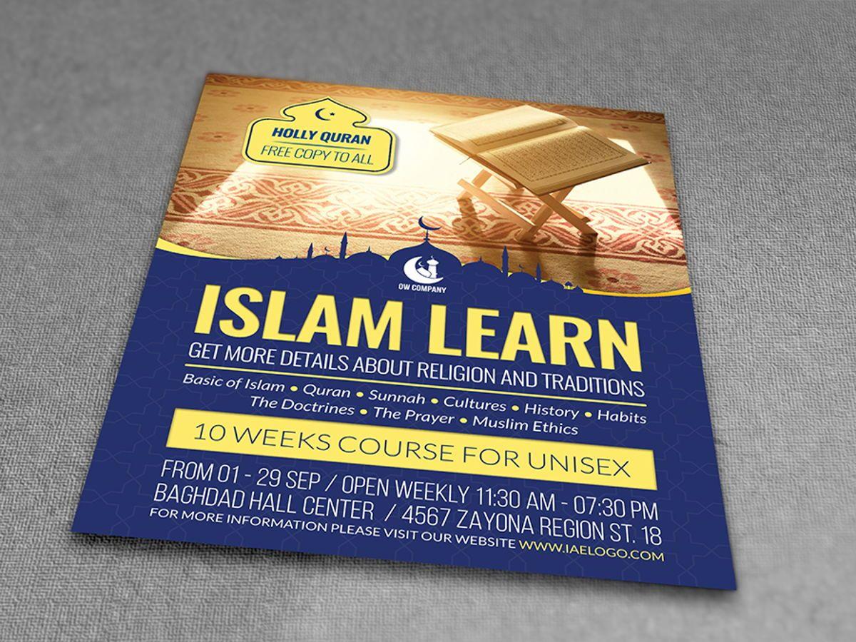Islamic Flyer Template, Slide 3, 08495, Religious/Spiritual — PoweredTemplate.com
