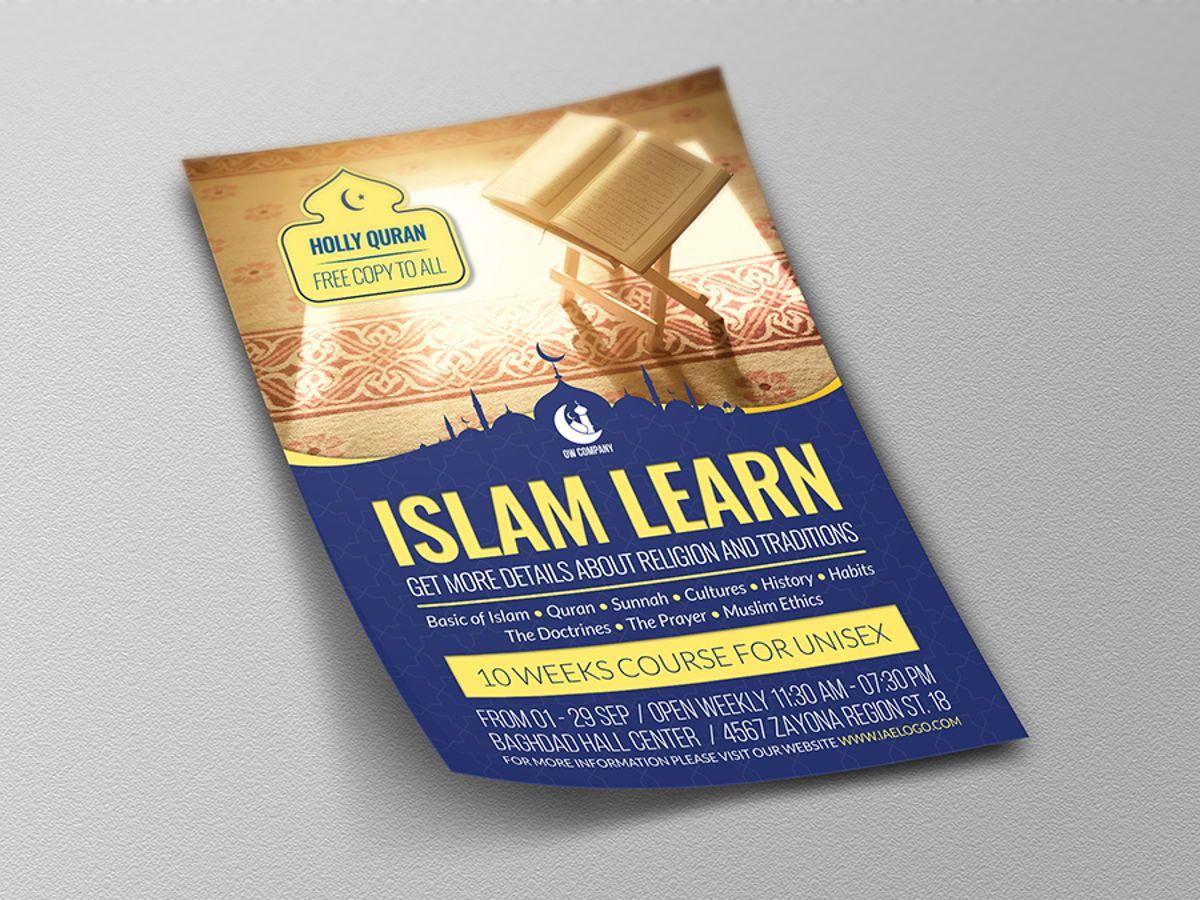 Islamic Flyer Template, Slide 4, 08495, Religious/Spiritual — PoweredTemplate.com