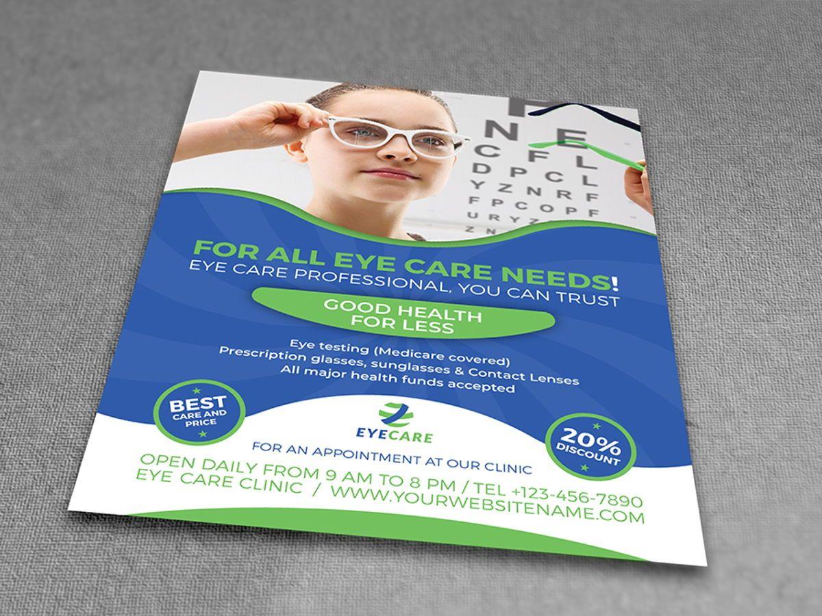 Optometrist Optician Flyer Template, Slide 3, 08497, Medical — PoweredTemplate.com
