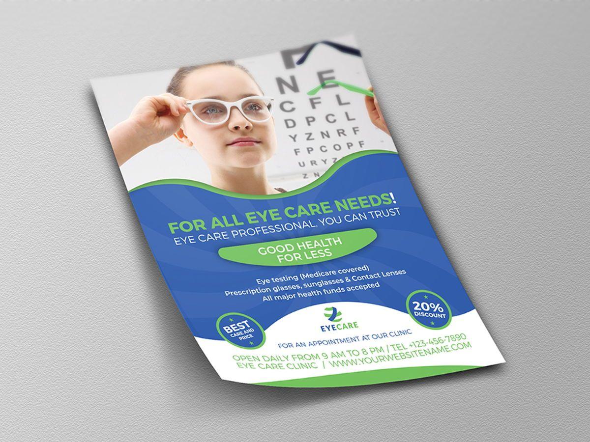 Optometrist Optician Flyer Template, Slide 4, 08497, Medical — PoweredTemplate.com