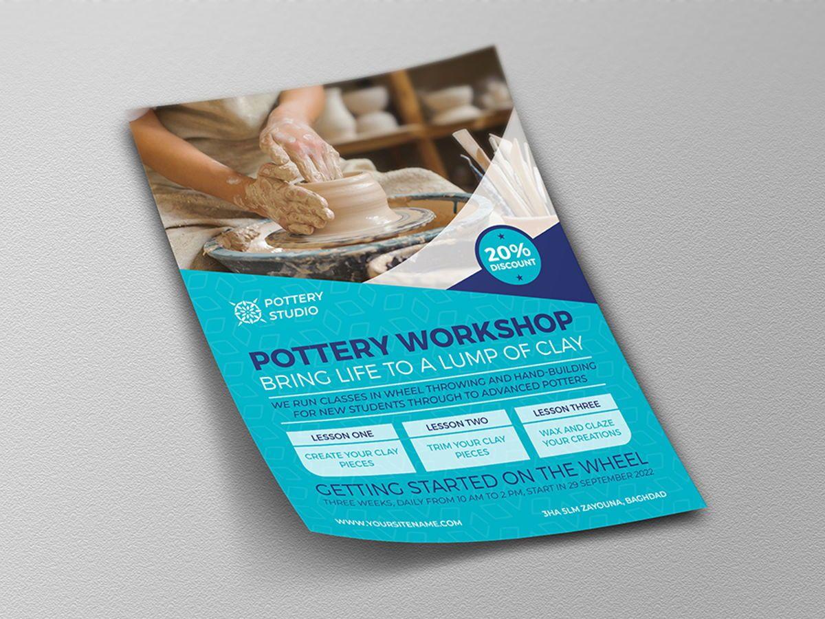 Pottery Workshop Flyer Template, Slide 4, 08498, Art & Entertainment — PoweredTemplate.com