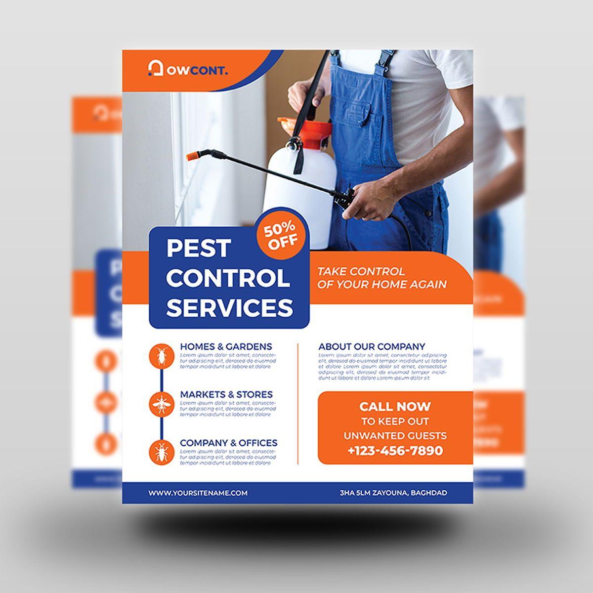 Pest Control Services Flyer Template, Diapositive 2, 08499, Nature / Environnement — PoweredTemplate.com