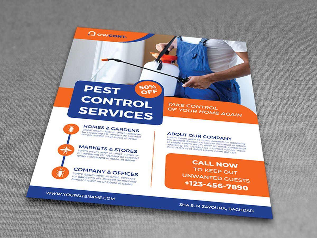 Pest Control Services Flyer Template, Diapositive 3, 08499, Nature / Environnement — PoweredTemplate.com