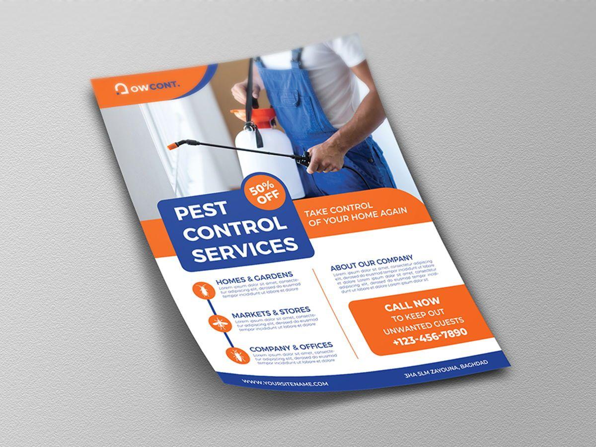 Pest Control Services Flyer Template, Diapositive 4, 08499, Nature / Environnement — PoweredTemplate.com