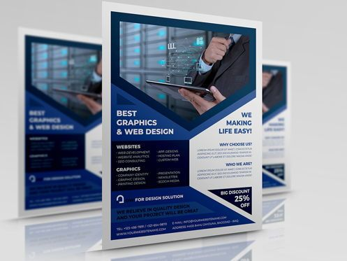 Technology, Science & Computers: Graphics and Web Design Flyer Template #08500