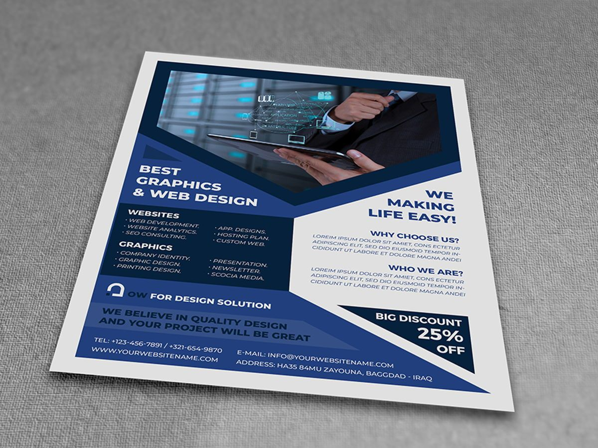 Graphics and Web Design Flyer Template, Diapositive 3, 08500, Technology, Science & Computers — PoweredTemplate.com