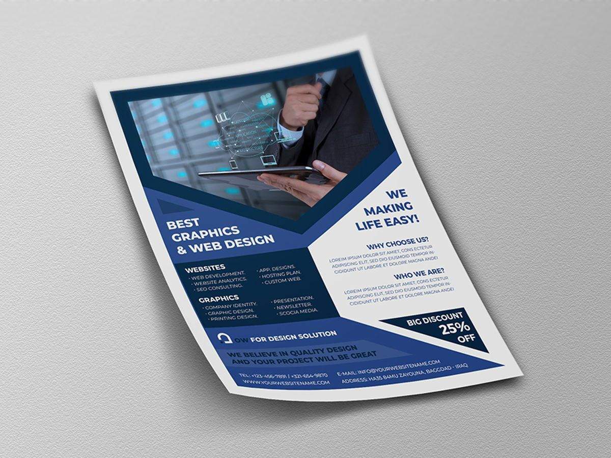 Graphics and Web Design Flyer Template, Diapositive 4, 08500, Technology, Science & Computers — PoweredTemplate.com