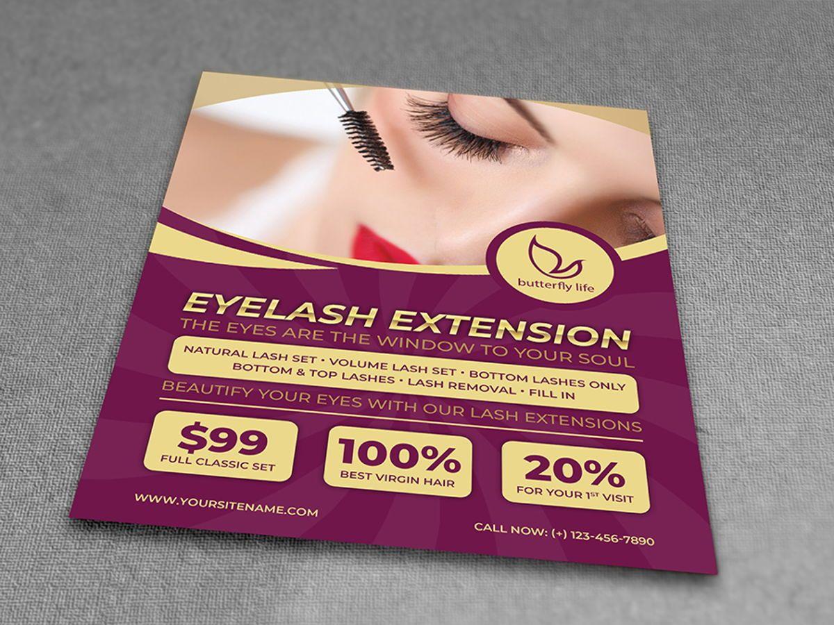 Eyelash Extension Flyer Template, Slide 3, 08501, General — PoweredTemplate.com