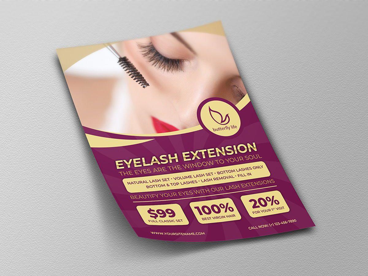 Eyelash Extension Flyer Template, Slide 4, 08501, General — PoweredTemplate.com