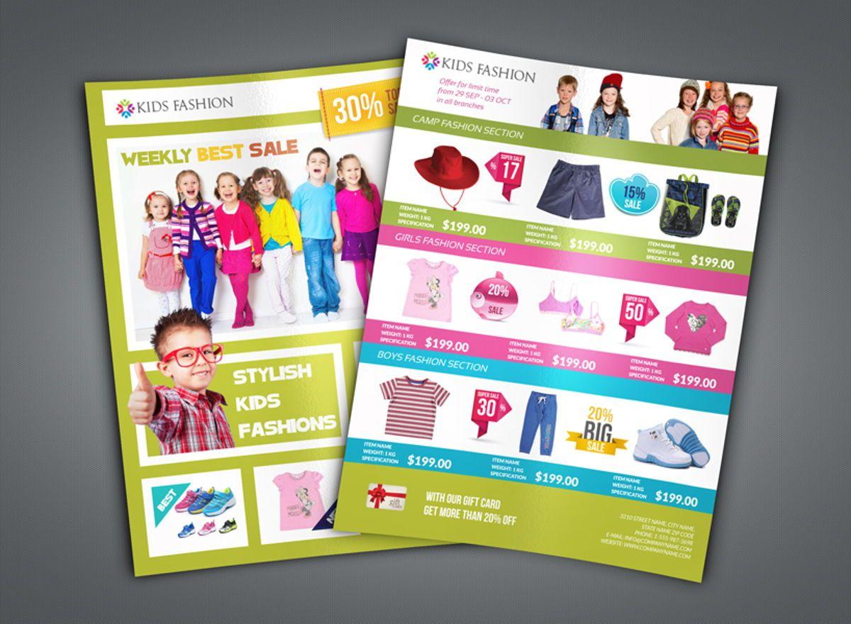 Kids Fashion Catalog Flyer Template, Diapositive 2, 08503, Général — PoweredTemplate.com