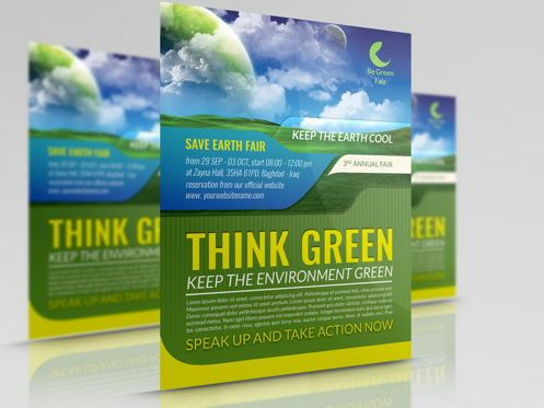 Nature & Environment: Environment Nature Flyer Template #08504