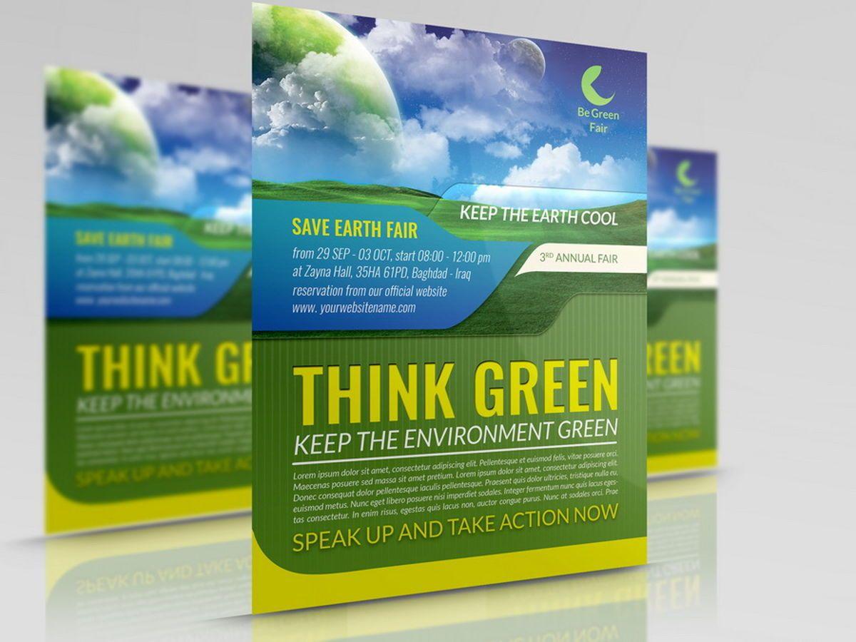 Environment Nature Flyer Template, 08504, Nature / Environnement — PoweredTemplate.com