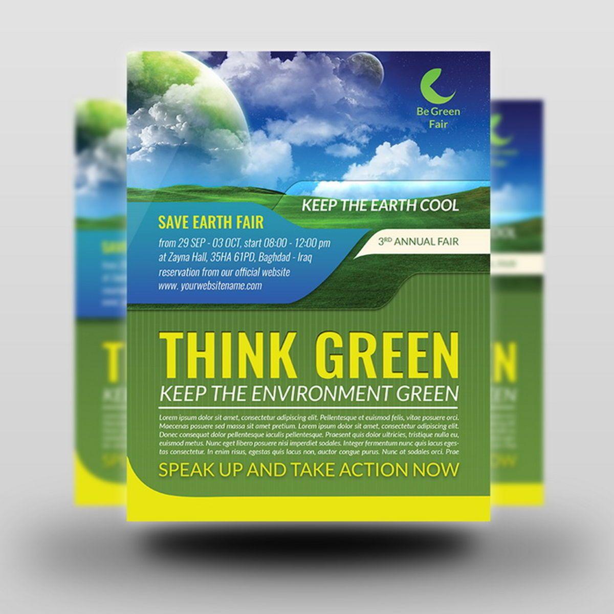 Environment Nature Flyer Template, Diapositive 2, 08504, Nature / Environnement — PoweredTemplate.com