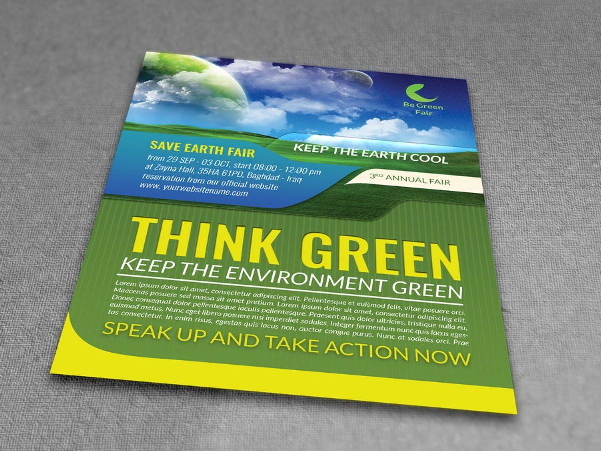 Environment Nature Flyer Template, Diapositive 3, 08504, Nature / Environnement — PoweredTemplate.com