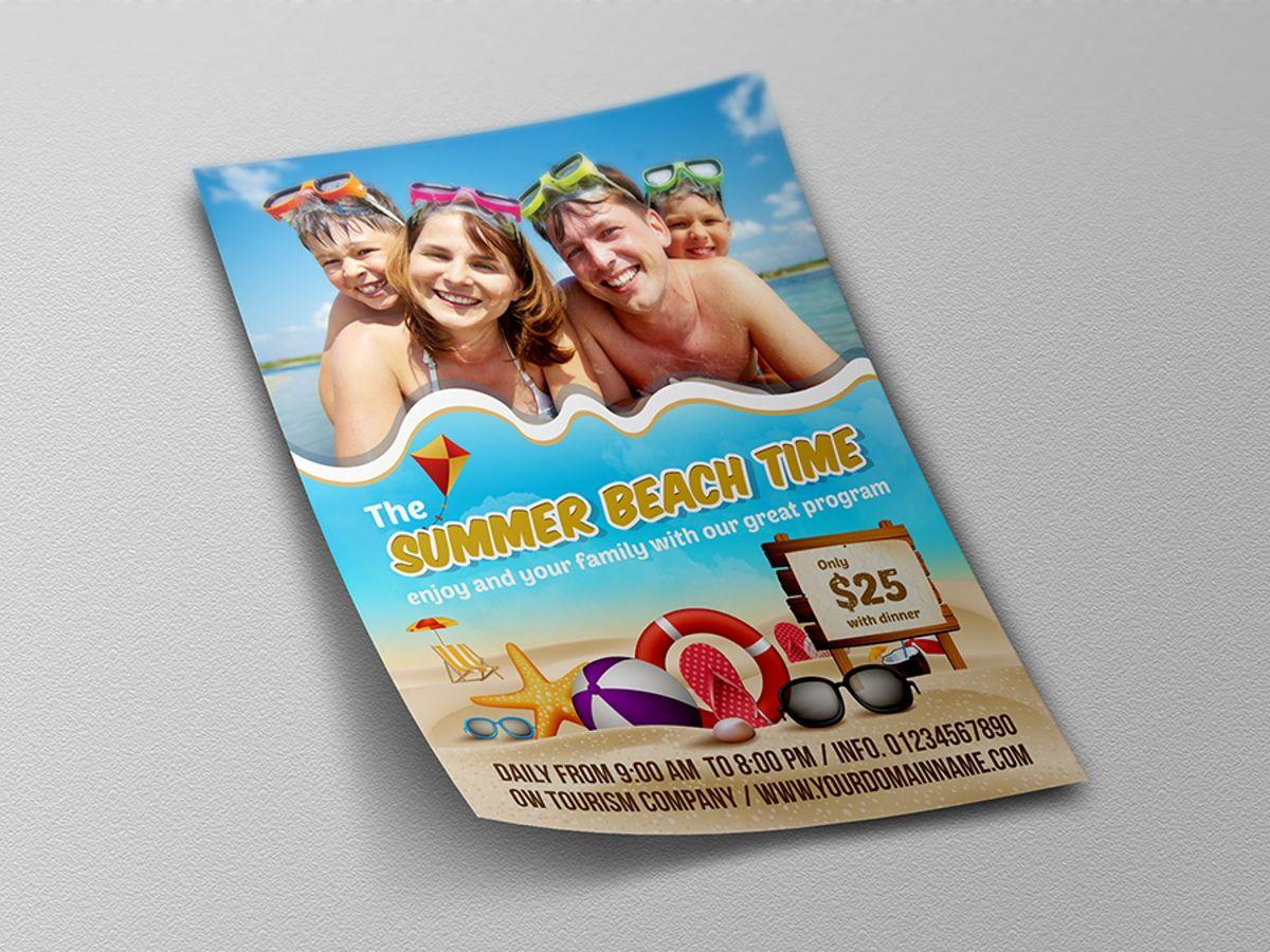 Summer Beach Flyer Template, Slide 4, 08506, Holiday/Special Occasion — PoweredTemplate.com