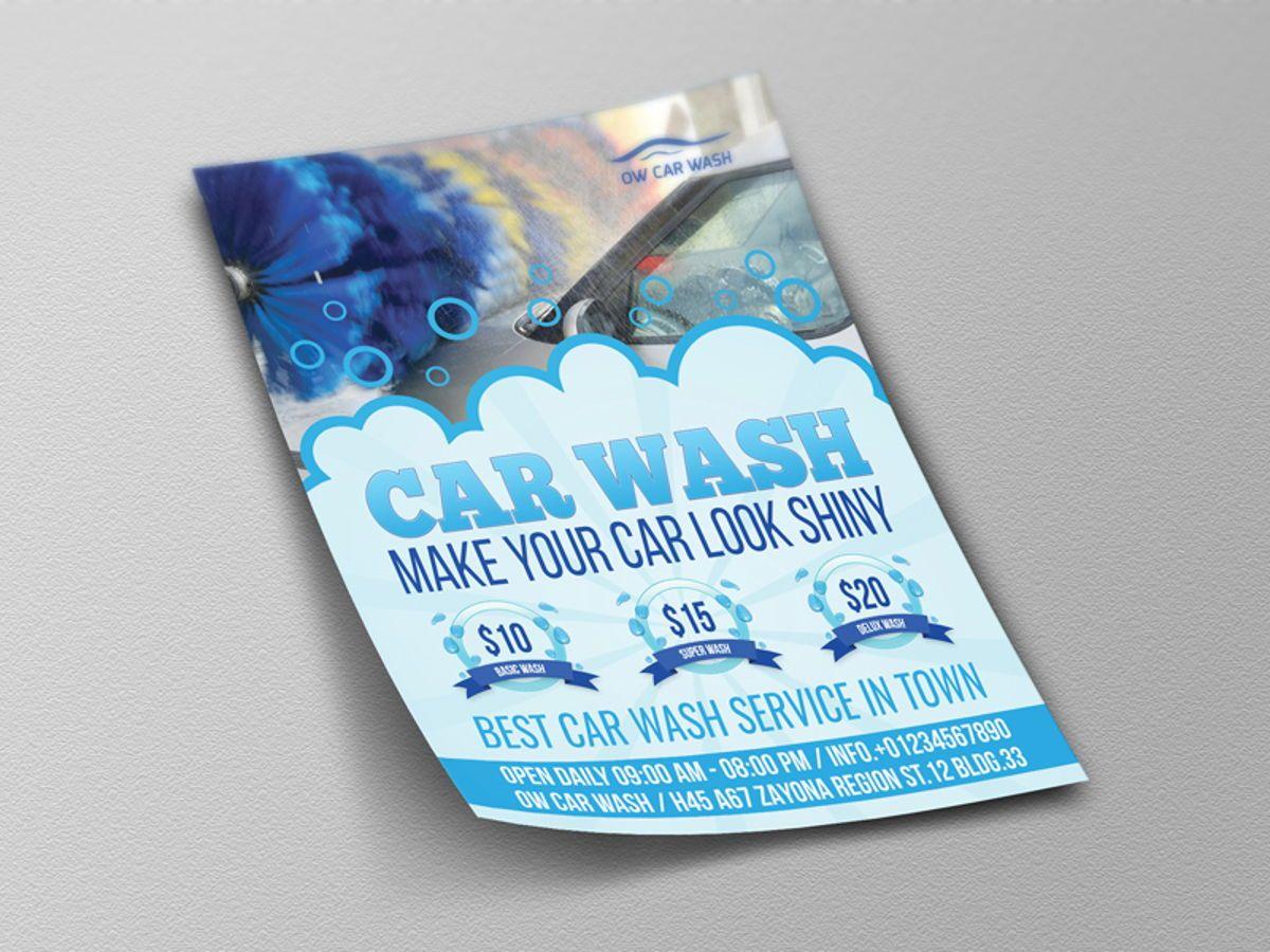 Car Wash Flyer Template, Slide 4, 08507, Cars/Transportation — PoweredTemplate.com