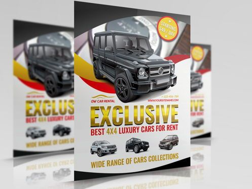 Cars/Transportation: Rent a Car Flyer Template #08508