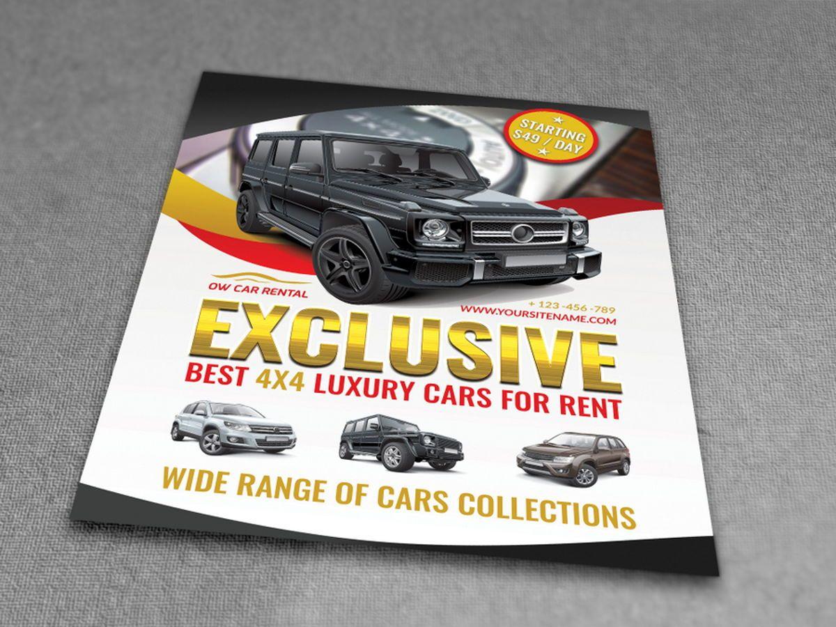 Rent a Car Flyer Template, Slide 3, 08508, Cars/Transportation — PoweredTemplate.com