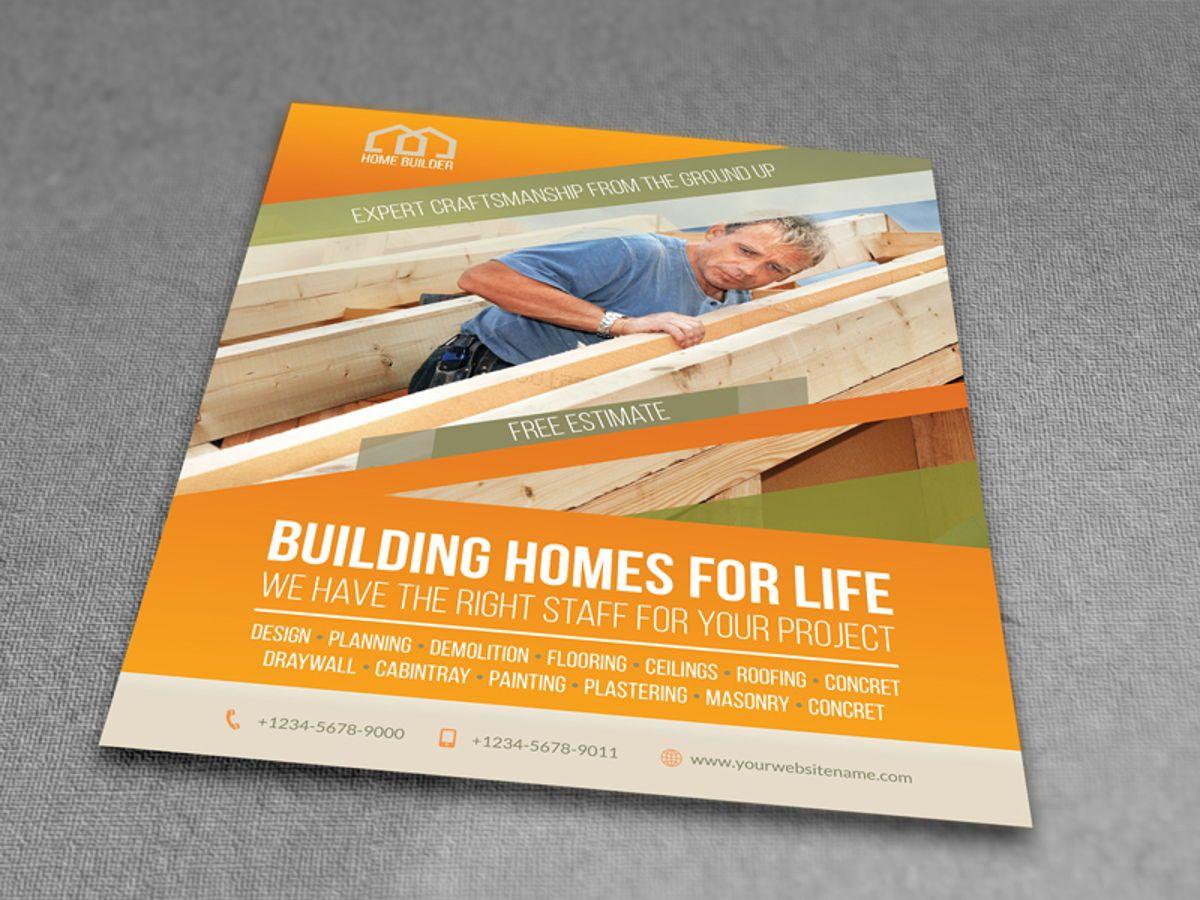 Home Building Carpentry Flyer Template, Slide 3, 08509, Construction — PoweredTemplate.com