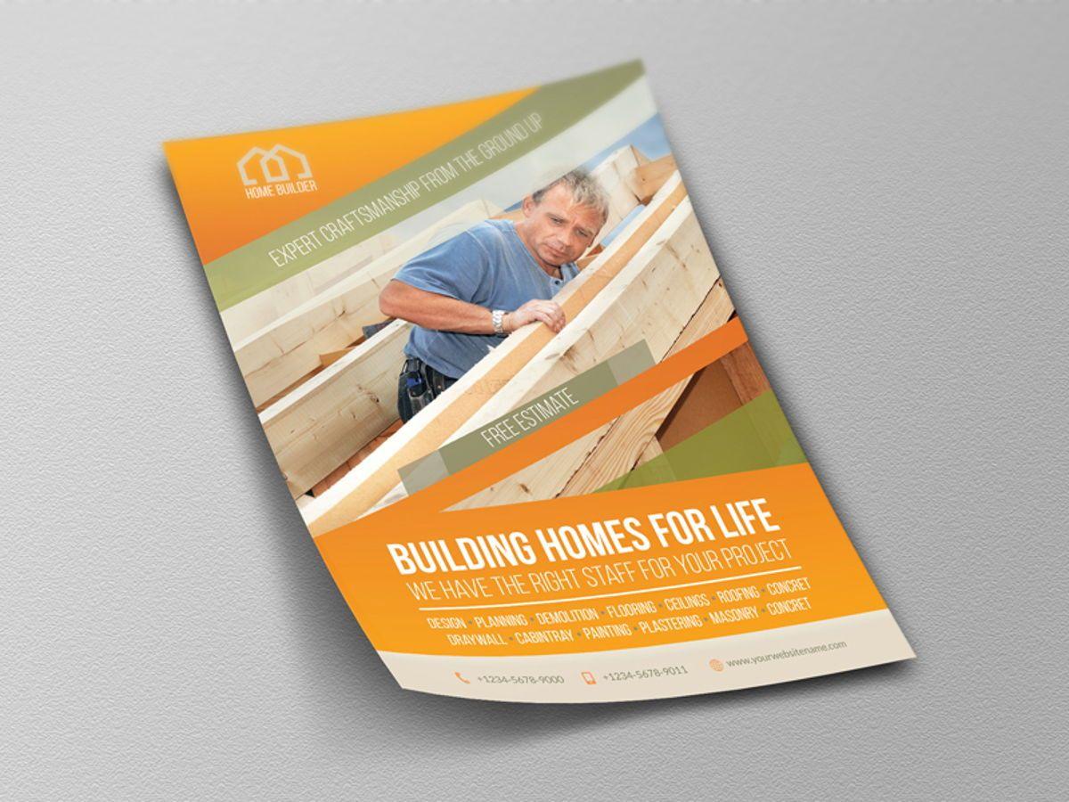 Home Building Carpentry Flyer Template, Slide 4, 08509, Construction — PoweredTemplate.com