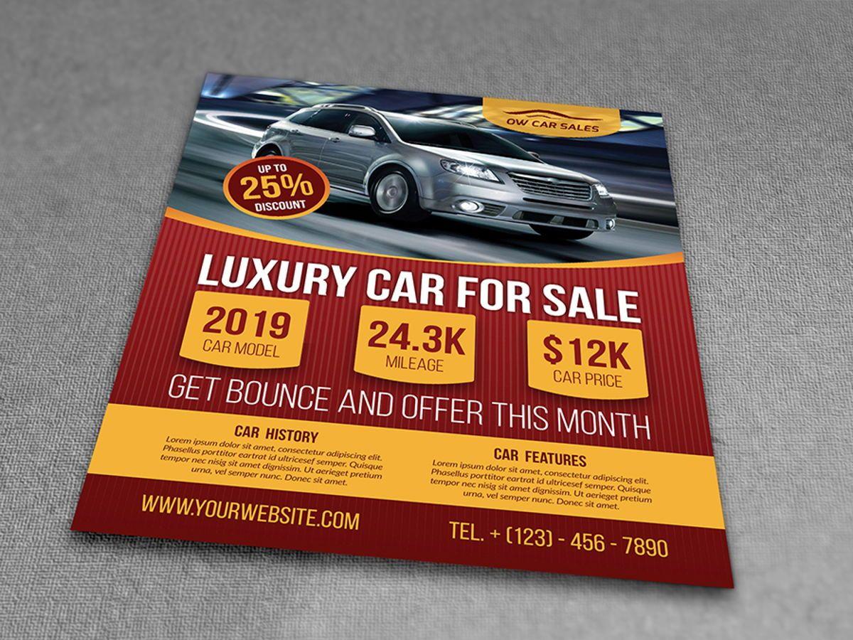 Car for Sale Flyer Template, Slide 3, 08510, Cars/Transportation — PoweredTemplate.com