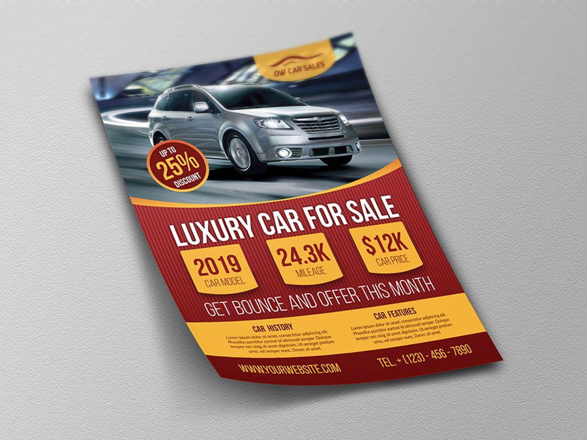 Car for Sale Flyer Template, Slide 4, 08510, Cars/Transportation — PoweredTemplate.com