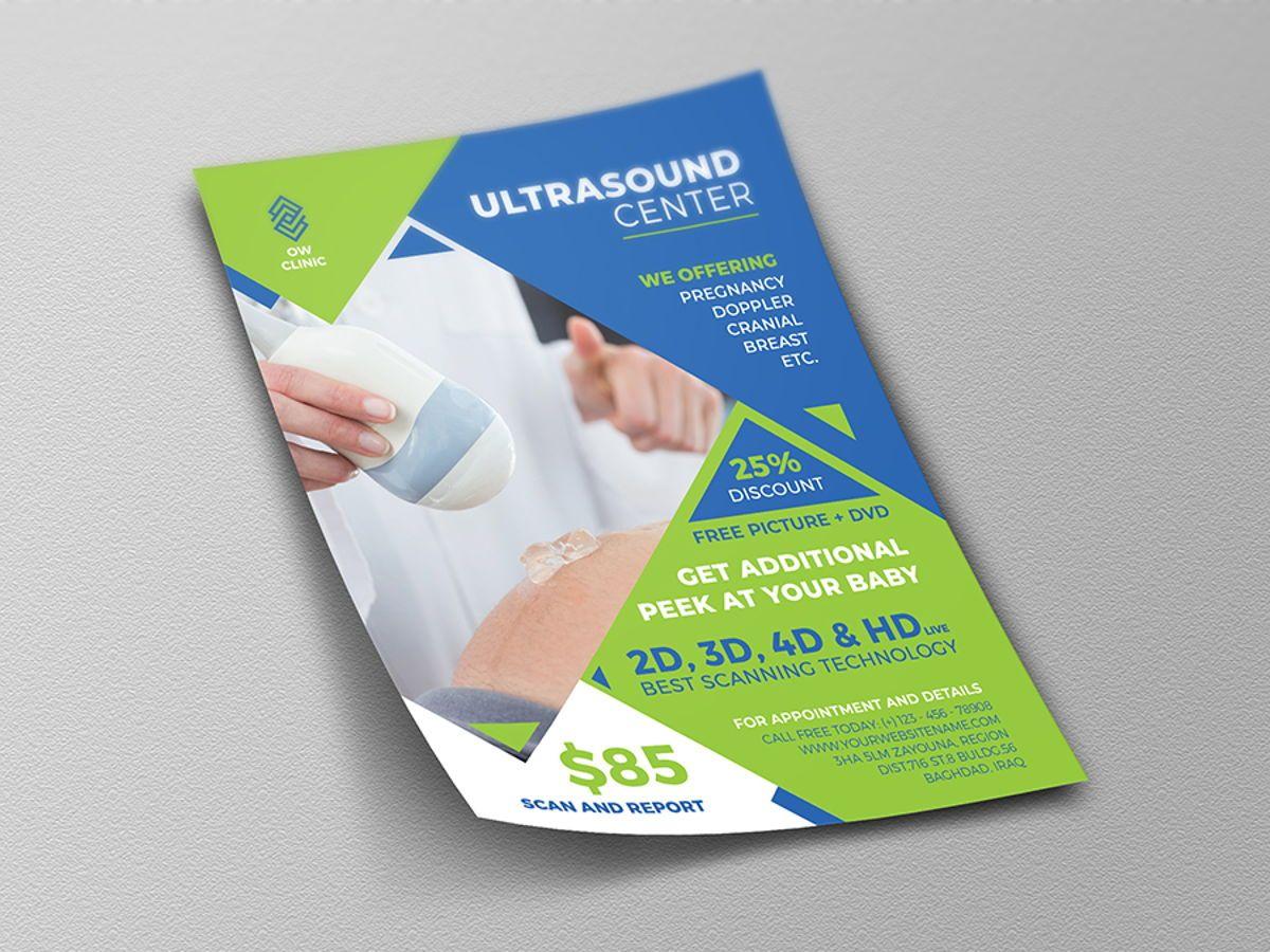 Ultrasound Clinic Flyer Template, Slide 4, 08512, Medical — PoweredTemplate.com