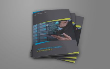 Business: Company Brochure Bi-Fold Template #08513