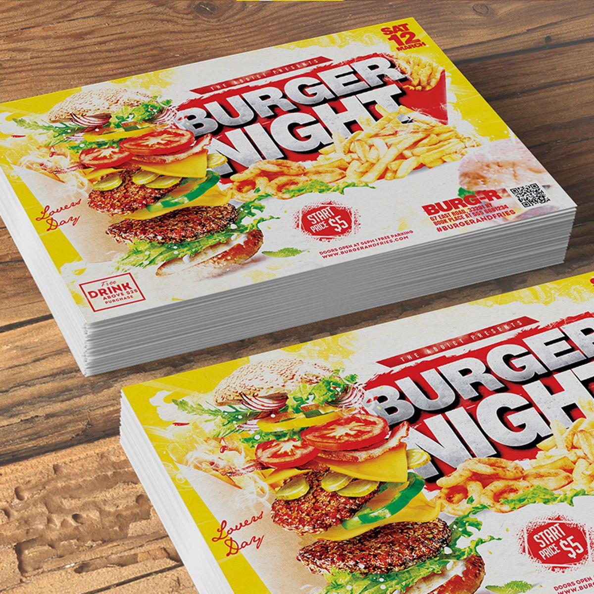 Burger Flyer Template, Slide 2, 08515, Food & Beverage — PoweredTemplate.com