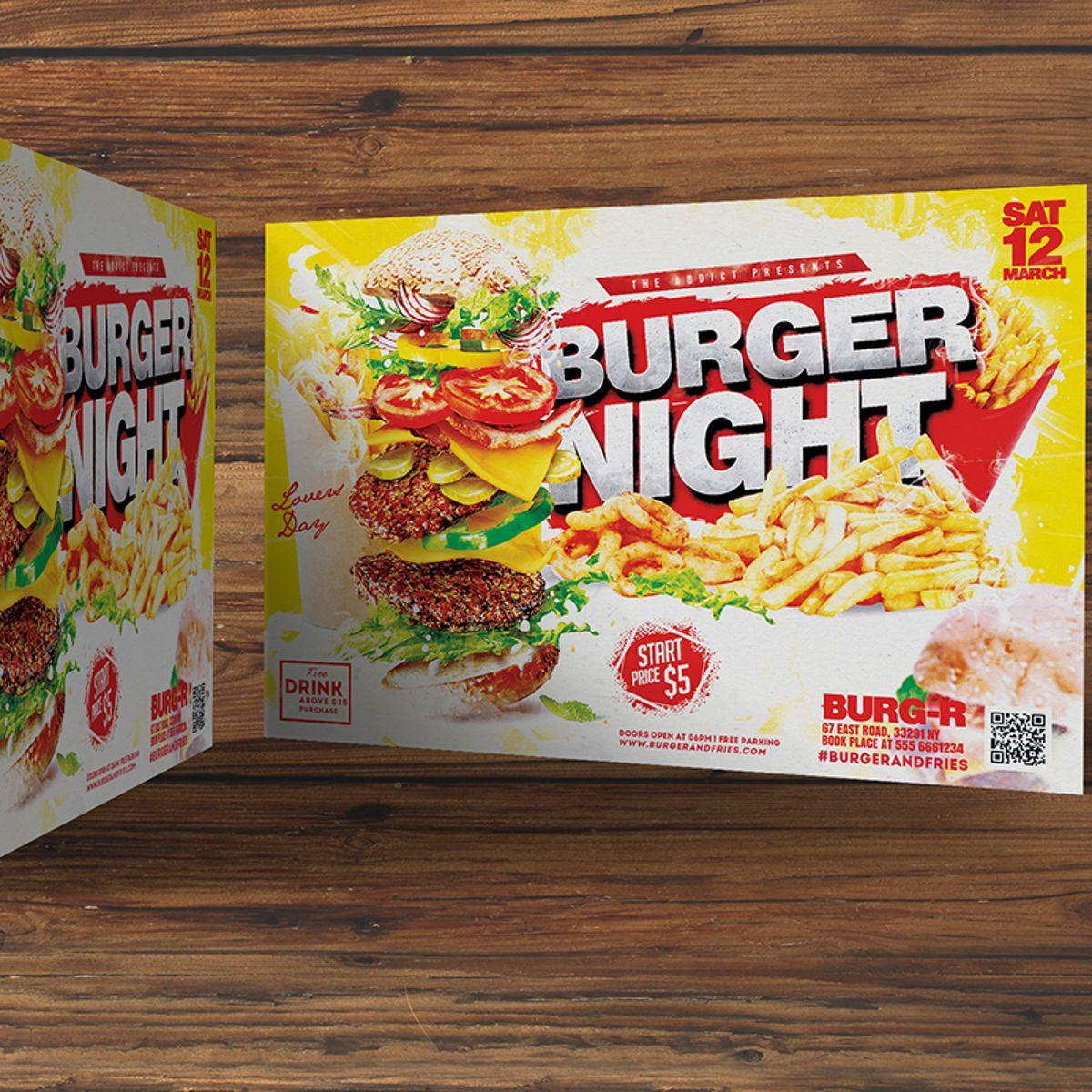 Burger Flyer Template, Slide 3, 08515, Food & Beverage — PoweredTemplate.com